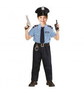Realistische Politieman Jongen Kostuum