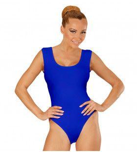 Unicolor Mouwloze Body Volwassen, Blauw
