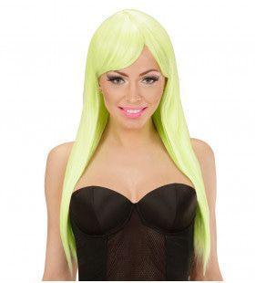 Classy Lady Pruik, Fashion Neon Geel
