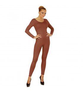 Unicolor Body Volwassen, Lang, Lichaamskleur Vrouw Kostuum