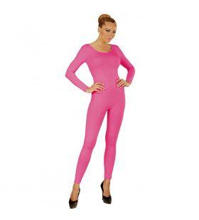Unicolor Body Volwassen, Lang, Roze Vrouw Kostuum