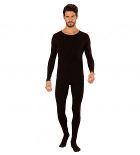 Unicolor Bodysuit Zwart Man Kostuum