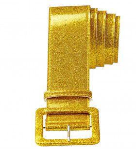 Glamour Riem Glitter 120cm, Goud