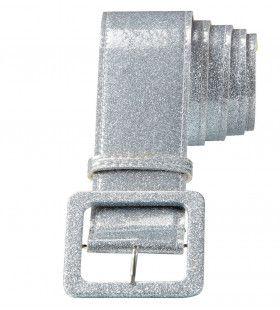 Glamour Riem Glitter 120 Centimeter Zilver