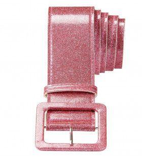 Glamour Riem Glitter 120cm, Roze