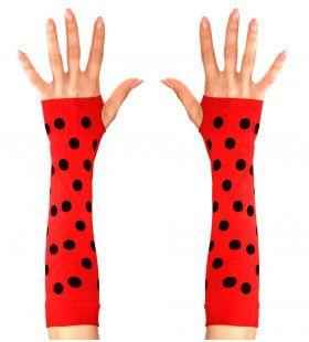 Bijpassende Vingerloze Handschoen Lieveheersbeestje