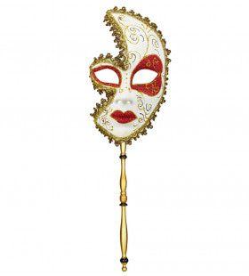 Klassiek Luxe Masker Markies De Sade Met Een Stokje