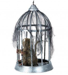 Smerige Rat In Een Kooi, 32cm