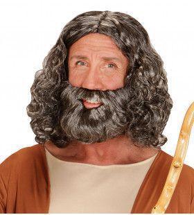 Mozes Pruik, Bijbels Figuur Met Baard