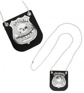 Undercover Politie Badge Met Klem