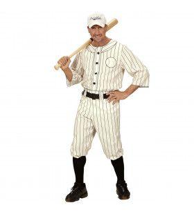 Amerikaanse Major League Honkbal Speler Man Kostuum