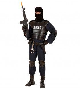 S.w.a.t Officier Volwassen Man Kostuum