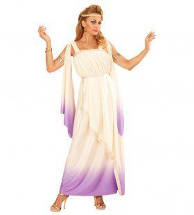 Mytische Godin Lavendel Dame Vrouw Kostuum