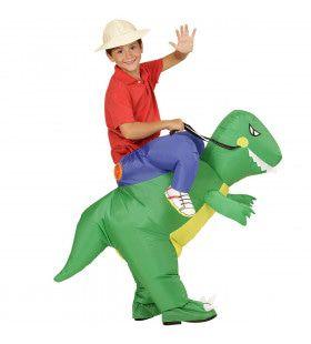 Grappige Opblaasbare Dinosaurus Kind Jongen Kostuum
