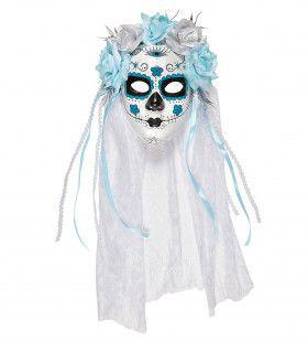 Boda Masker Dia De Los Muertos Met Witte Sluier