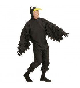 Zwarte Vrolijke Kraai Man Kostuum