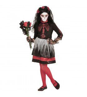 Agape Bruid Dia De Los Muertos Meisje Kostuum