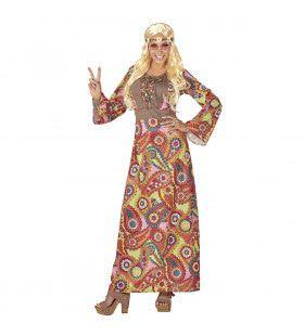 Hippie Vrouw Flower Davy Kostuum
