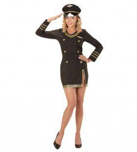 Craving Captain Vrouwelijke Gezagvoerder Kostuum