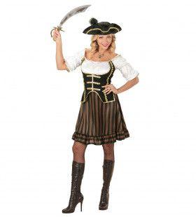Vrouwelijke Piraten Kapitein Cabowski Kostuum