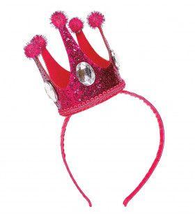 Koningin Emma Hoofdband Met Mini Kroon Rose