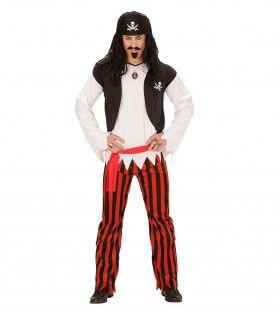 Zwart-Rode Pirate Vrouw Kostuum