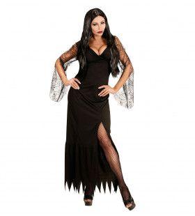 Elegante Dark Lady Vrouw Kostuum