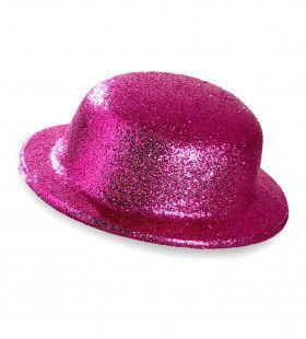 Showmaster Glitter Bolhoed, Roze