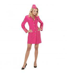 Pink Hostess Vrouw Kostuum