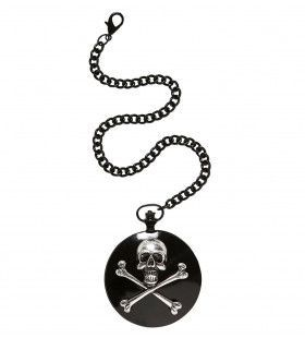 Piraten Accessoire Zakhorloge Met Schedel Ketting