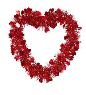 Valentijn Decoratie Tinsel Hart, Valentijnsdag