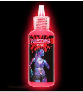 Glow In The Dark Make-Up Spray, Neon Rose
