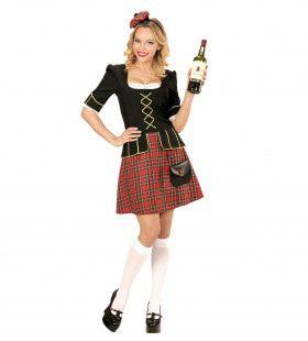Tartan Lady Schotse Vrouw Kostuum
