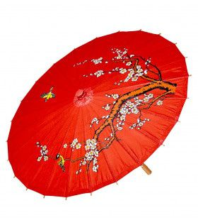 Hanjin Oosterse Paraplu Rijstpapier, Rood