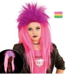 Neon Rock Pruik, Kind Punk Roze