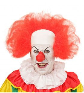 Wijde Kale Kop Clown Met Haar