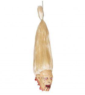 Afschuwelijk Afgehakt Zombie Hoofd Met Blonde Haren