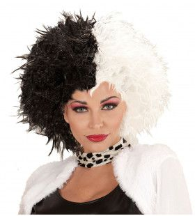 Cruella Pruik, Zwart En Wit