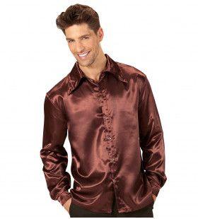 Cool Dancer Discoshirt 70s, Bruin Man
