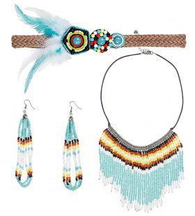 Accessoires Set Indiaanse Blauw