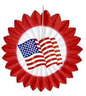 Papieren Waaier Usa Vlag Rood 50cm