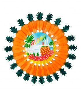 Papieren Waaier Ananas 60cm