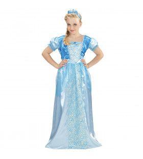 Blauwe Sneeuwprinses Meisje Kostuum