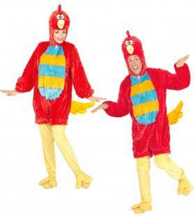 Fantasie Onesie Plushe Rode Vogel Kostuum