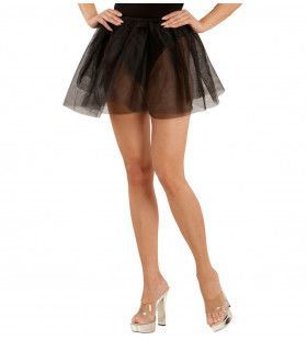 Doorschijnende Petticoat Zwart