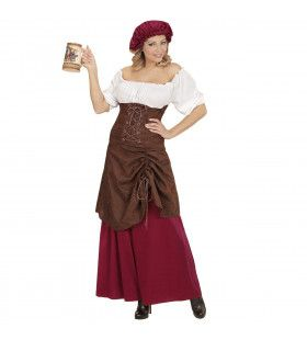 Taveerne Meid Lisanne Vrouw Kostuum