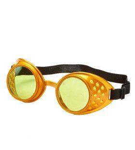Stofbril Steampunk Goud Smokey Eyes