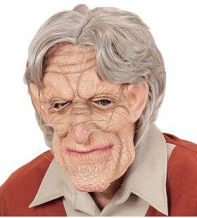 Masker 100 Jarige Oude Man Met Haar