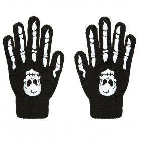 Handschoenen Botten Met Schedel Knokkels