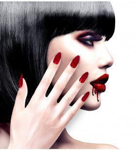 Nagels Vampira Stiletto Bordeaux Rood